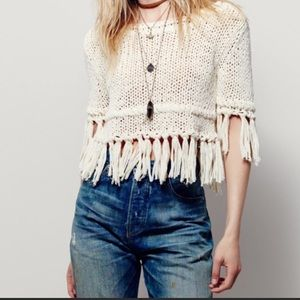 Free People On the Fringe Pullover Top